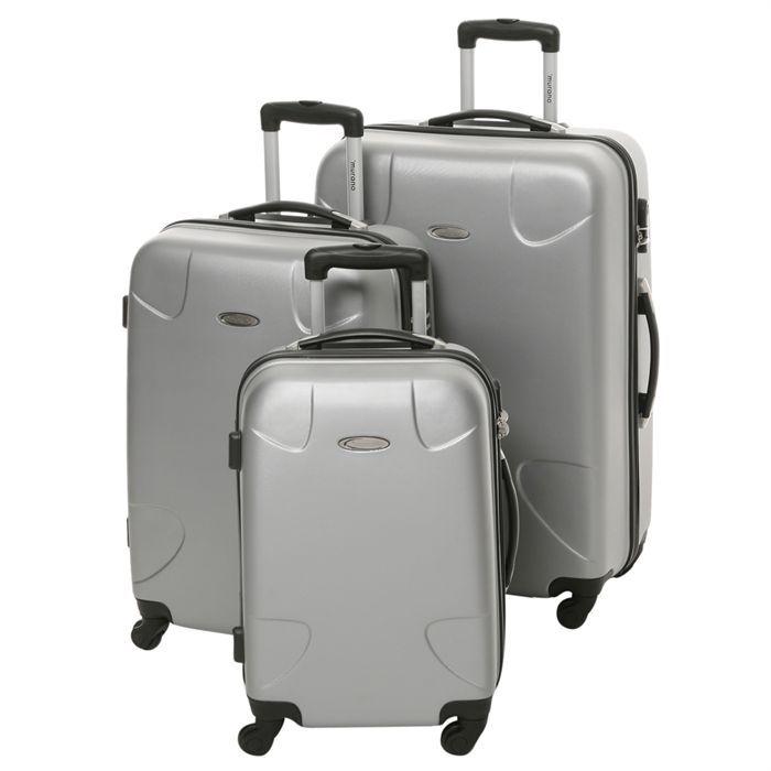 murano set de 3 valises trolley gris achat vente set de valises murano set de valises. Black Bedroom Furniture Sets. Home Design Ideas