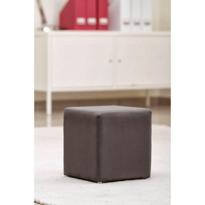 Pouf carr en toile gris anthracite achat vente pouf poire toile polyes - Pouf gris anthracite ...