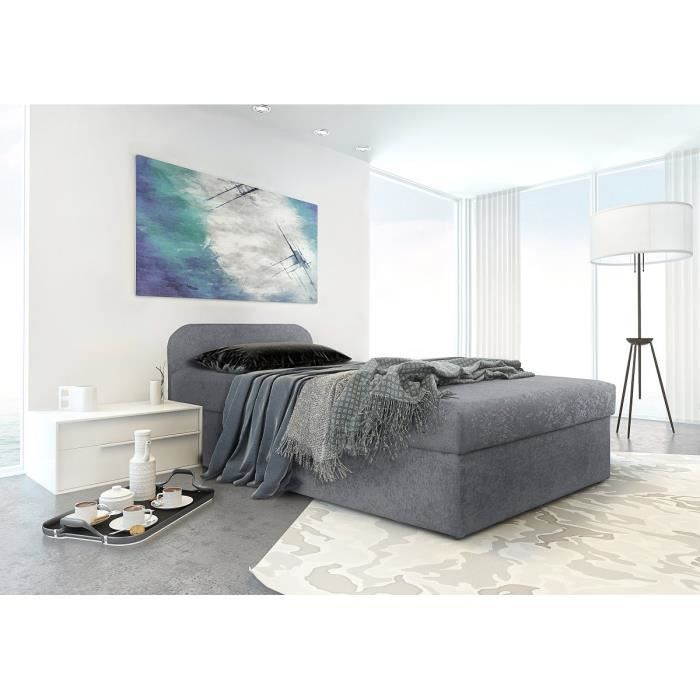 moov lit coffre enfant 90x190cm matelas gris achat. Black Bedroom Furniture Sets. Home Design Ideas