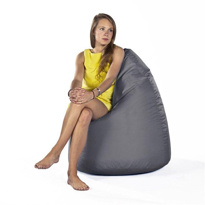 V2 design pouf poire gris fonc achat vente pouf poire cdiscount - Pouf en forme de poire ...