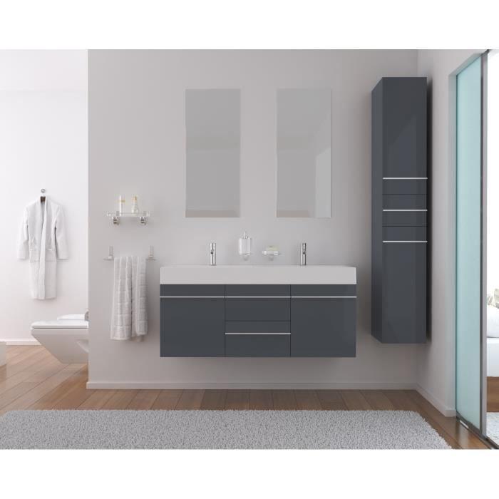 Strada salle de bain compl te 120 cm gris brillant achat for Salle de bain complete