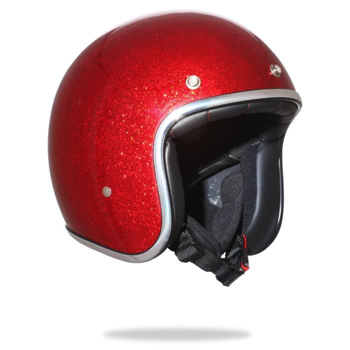 stormer casque jet pearl rouge paillet achat vente casque moto scooter stormer casque jet. Black Bedroom Furniture Sets. Home Design Ideas