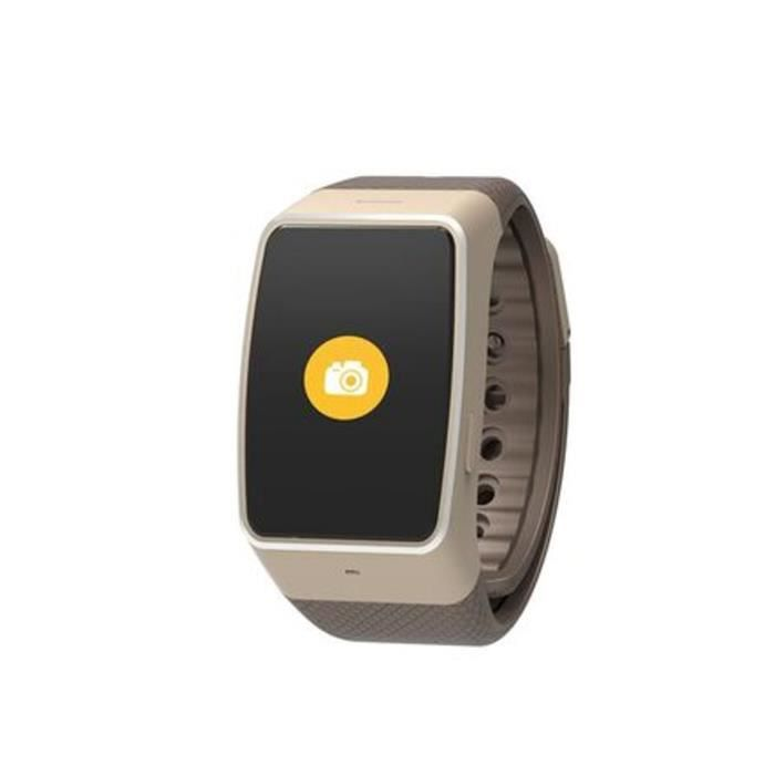 my kronoz montre connect e zewatch4 hr marron achat. Black Bedroom Furniture Sets. Home Design Ideas