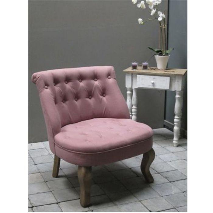 Fauteuil crapaud parme tissu 100 coton achat vente fauteuil bois massif - Soldes fauteuil crapaud ...