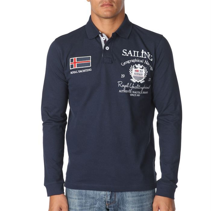 GEOGRAPHICAL NORWAY Polo Homme Marine Achat / Vente polo GEO NORWAY