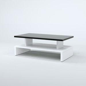 Table basse achat vente table basse pas cher cdiscount for Table basse noir et blanc pas cher