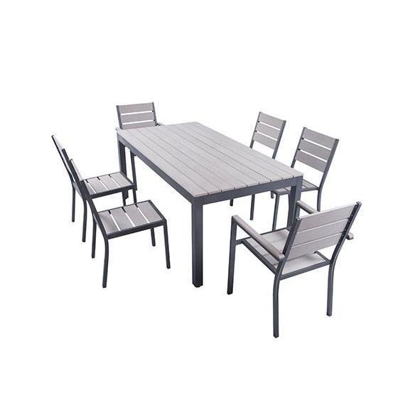 Ensemble Table De Jardin 180 Cm 2 Fauteuils 4 Chaises
