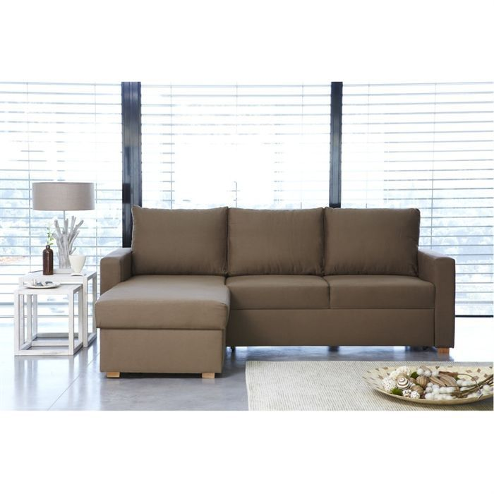 Canap s d 39 angle achat vente canap s d 39 angle pas cher cdiscount - Canape marron convertible ...