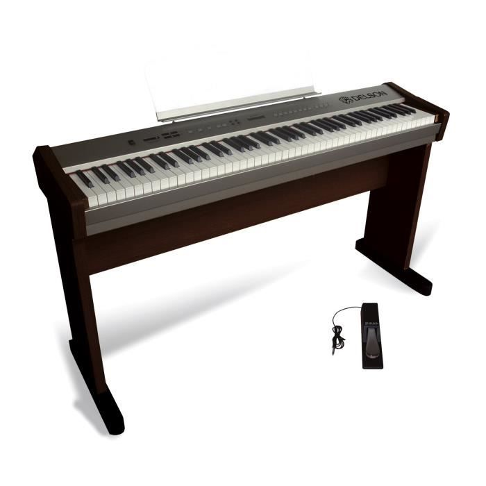delson piano portable rosewood 88 touches achat vente piano delson piano portable rosewood. Black Bedroom Furniture Sets. Home Design Ideas