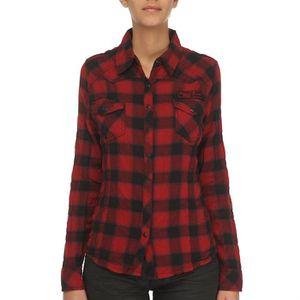 chemise a carreaux femme les bons plans de micromonde. Black Bedroom Furniture Sets. Home Design Ideas