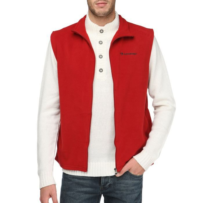 longboard gilet polaire sans manche homme rouge achat vente gilet cardigan cdiscount. Black Bedroom Furniture Sets. Home Design Ideas
