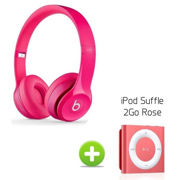 beats casque solo 2 rose ipod shuffle 2go rose casque. Black Bedroom Furniture Sets. Home Design Ideas