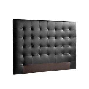 Tete de lit cuir 160 achat vente tete de lit cuir 160 pas cher cdiscount - Tete de lit noir 160 ...