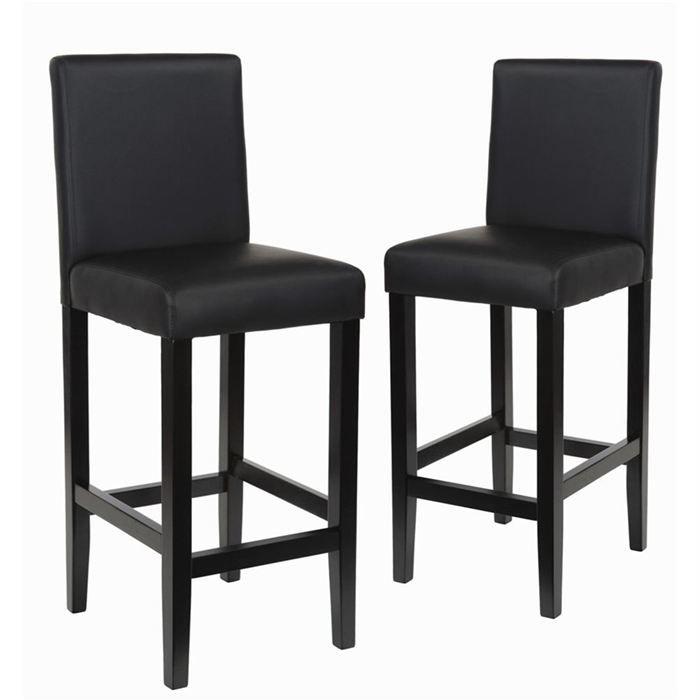 lot de 2 chaises de bar noires miami achat vente lot 2 chaises de bar miami cdiscount. Black Bedroom Furniture Sets. Home Design Ideas