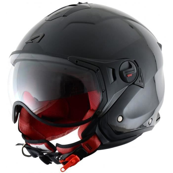 astone minijet sport casque jet noir achat vente casque moto scooter astone minijet sport. Black Bedroom Furniture Sets. Home Design Ideas