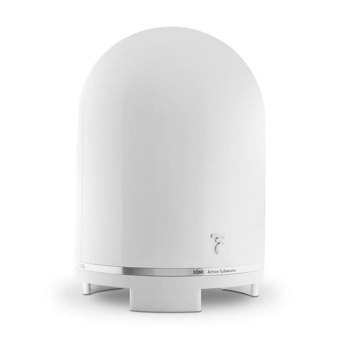 focal dome subwoofer caisson de grave amplifi blanc achat vente caisson de basse focal dome. Black Bedroom Furniture Sets. Home Design Ideas