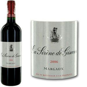 VIN ROUGE La Sirène de Giscours Margaux 2006