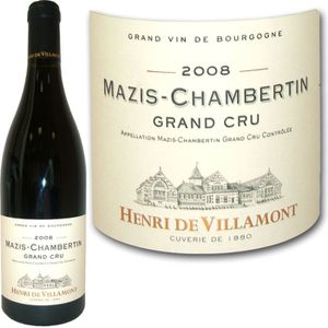 VIN ROUGE Mazis Chambertin Henri de Villamont 2008 x1