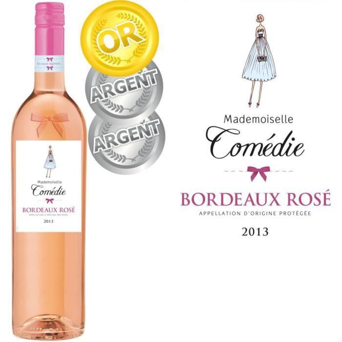 VIN ROSE Mademoiselle Comédie 2013 Bordeaux Rosé