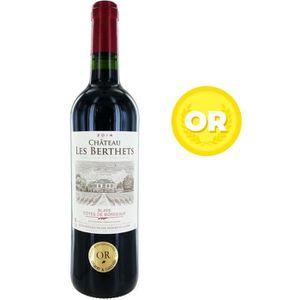 VIN ROUGE Château Les Berthets Blaye Côtes de Bordeaux 2014