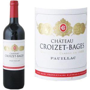 VIN ROUGE Château Croizet Bages Pauillac Cru Classé Grand Vi
