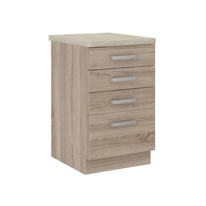 lassen meuble bas de cuisine 40 cm avec plan de travail. Black Bedroom Furniture Sets. Home Design Ideas