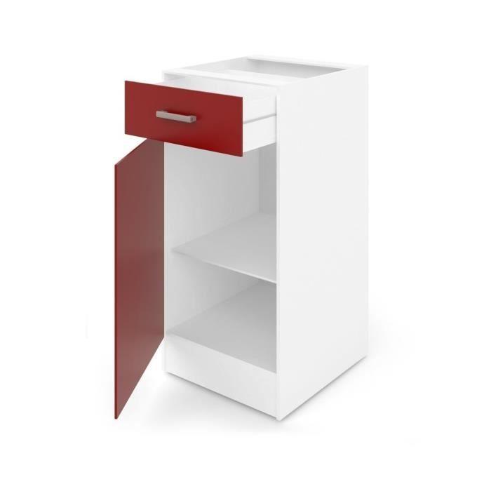 Ultra meuble bas de cuisine l 40 avec plan de travail - Meuble avec plan de travail cuisine ...