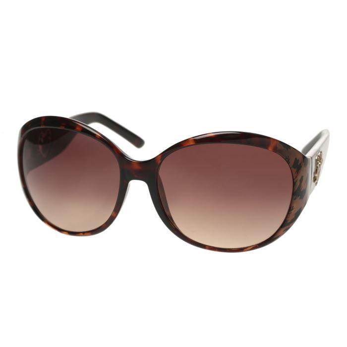 guess lunettes de soleil gu7146 s57 femme marron achat vente lunettes de soleil cdiscount. Black Bedroom Furniture Sets. Home Design Ideas