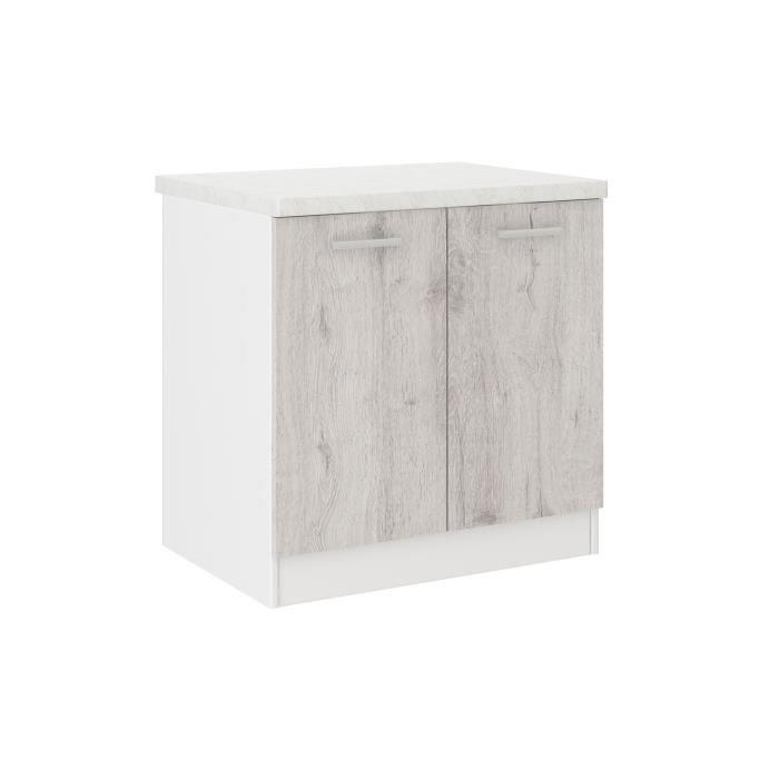 Ultra meuble bas de cuisine 60 cm d cor ch ne clair - Meuble bas cuisine 60 cm ...
