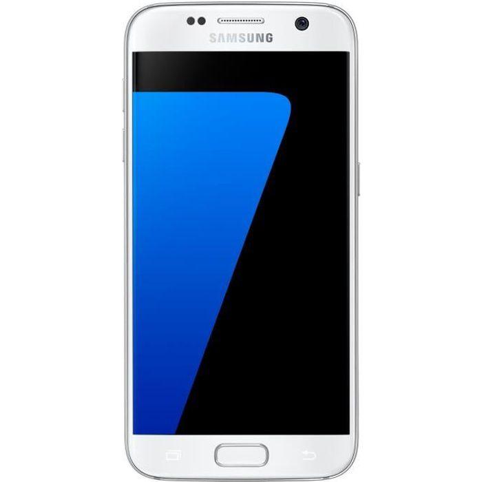 samsung galaxy s7 blanc achat smartphone pas cher avis et meilleur prix cdiscount. Black Bedroom Furniture Sets. Home Design Ideas