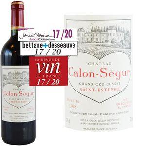 VIN ROUGE Château Calon Ségur Saint Estèphe 1998 - Saint Est