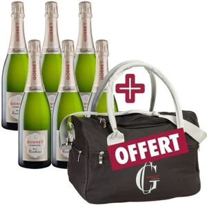CHAMPAGNE Lot de 6 Gosset Brut Excellence Champagne + Sac Is