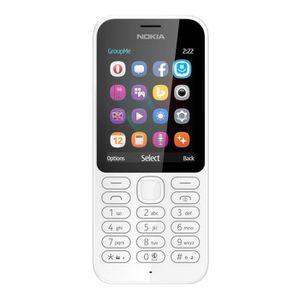 Téléphone portable Nokia 222 Double Sim Blanc