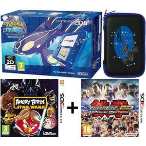 Console 2ds pokemon saphir alpha 2 jeux housse achat for Housse 3ds pokemon