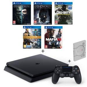 CONSOLE PS4 NOUVEAUTÉ Nouvelle PS4 Slim Noire 500 Go + 5 Jeux : Call of