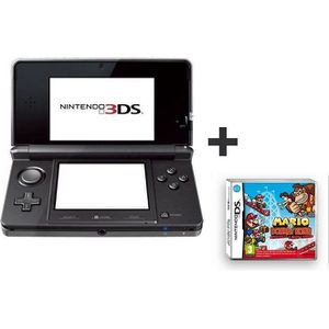 CONSOLE DS LITE - DSI 3DS NOIRE COSMOS+MARIO VS DONKEY KONG PAGAILLE
