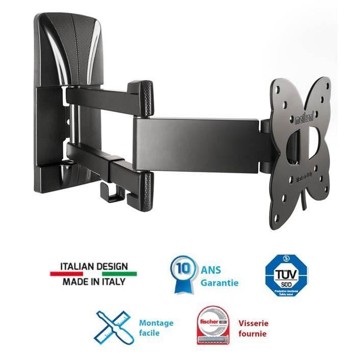 meliconi 100 sdr support tv mural orientable slim 14 25. Black Bedroom Furniture Sets. Home Design Ideas
