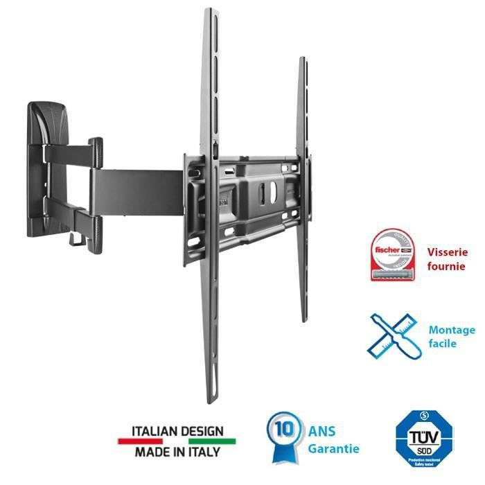 Meliconi 400 sdr support tv mural orientable 40 5 - Support mural tv 40 ...