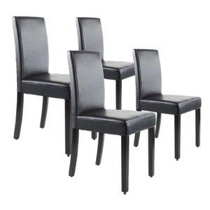 CHAISE CLARA Lot de 4 Chaises de salle à manger marron