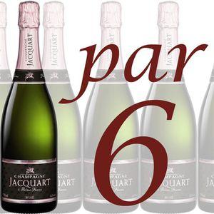 """CHAMPAGNE Jacquart Brut Rosé """"Mosaïque"""" (Caisse de 6 bouteil"""