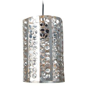 LUSTRE ET SUSPENSION Suspension métal perfore, forme cylindrique