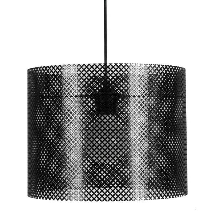 lacy suspension en noir hauteur 23 cm hauteur plafond 85cm achat vente lacy suspension en. Black Bedroom Furniture Sets. Home Design Ideas