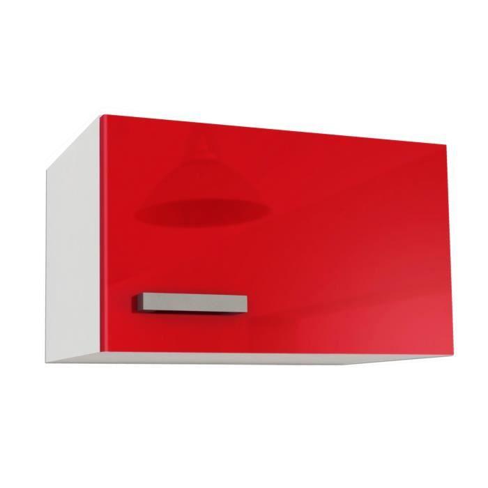 Start meuble sur hotte l 60 cm rouge brillant achat for Meuble sur hotte ikea