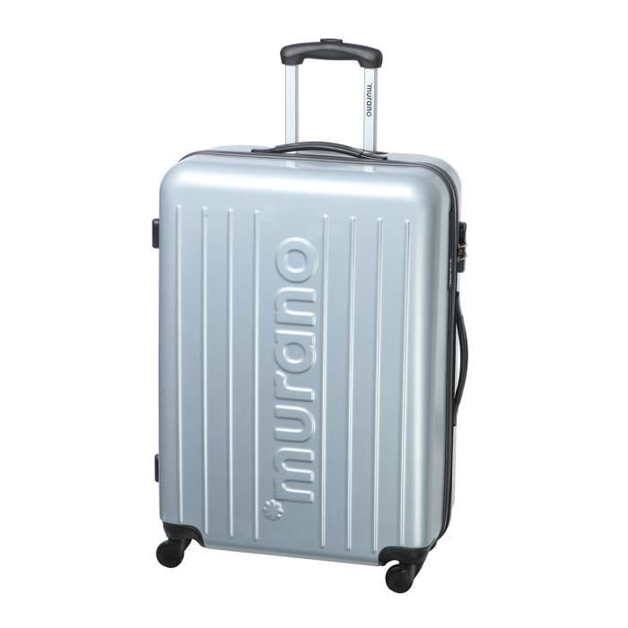 murano valise trolley 4 roues abs 66 cm argent achat vente valise bagage murano valise. Black Bedroom Furniture Sets. Home Design Ideas