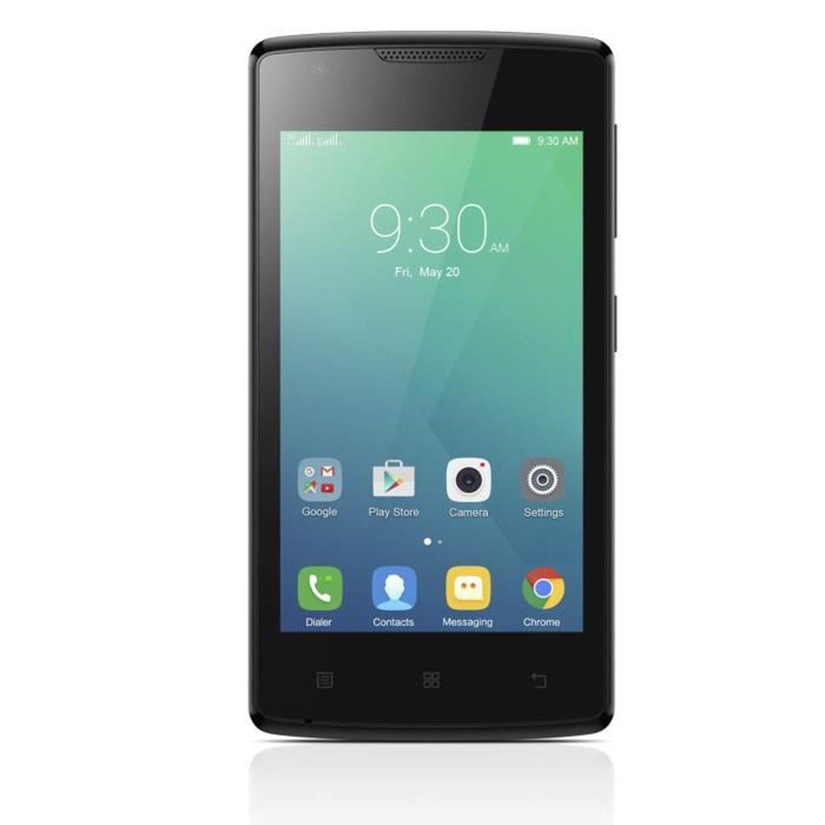 lenovo a plus noir achat smartphone pas cher avis et meilleur prix cdiscount. Black Bedroom Furniture Sets. Home Design Ideas