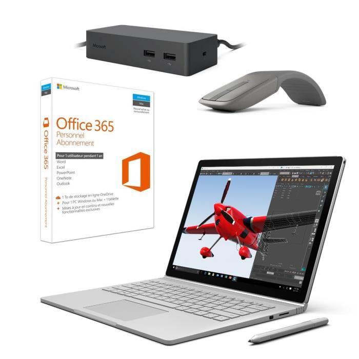 surface book i7 1to 16goram surface dock office 365 personnel souris microsoft arc touch. Black Bedroom Furniture Sets. Home Design Ideas
