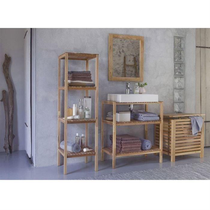 Spa ensemble de 5 l ments salle de bain esprit nature en noyer achat ven - Elements salle de bain ...