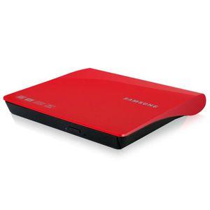 Lecteur - graveur externe CD-DVD SAMSUNG SE208DB ROUGE
