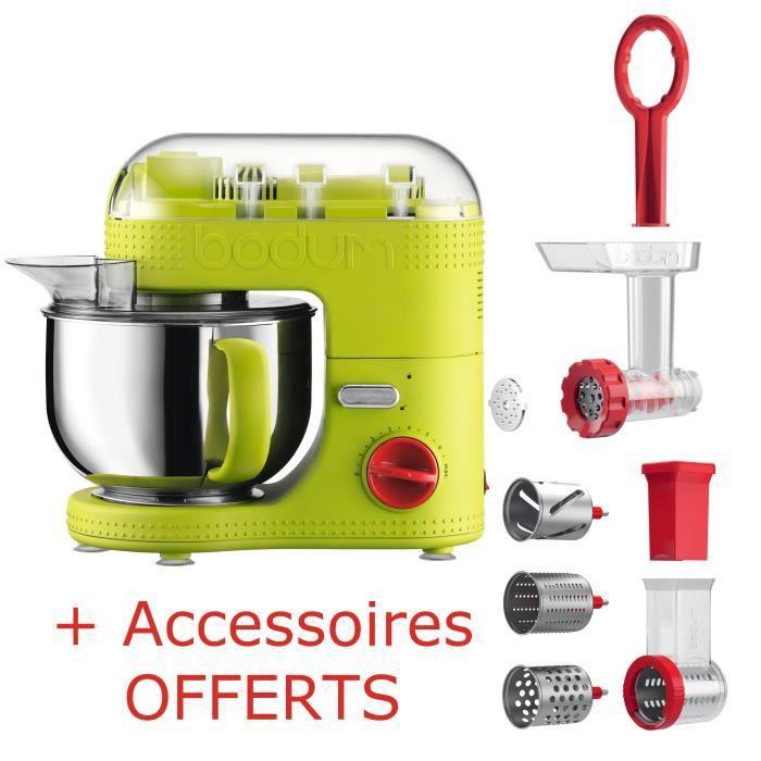 pack robot culinaire accessoires bodum bistro 11381 vert hachoir viande trancheuse. Black Bedroom Furniture Sets. Home Design Ideas