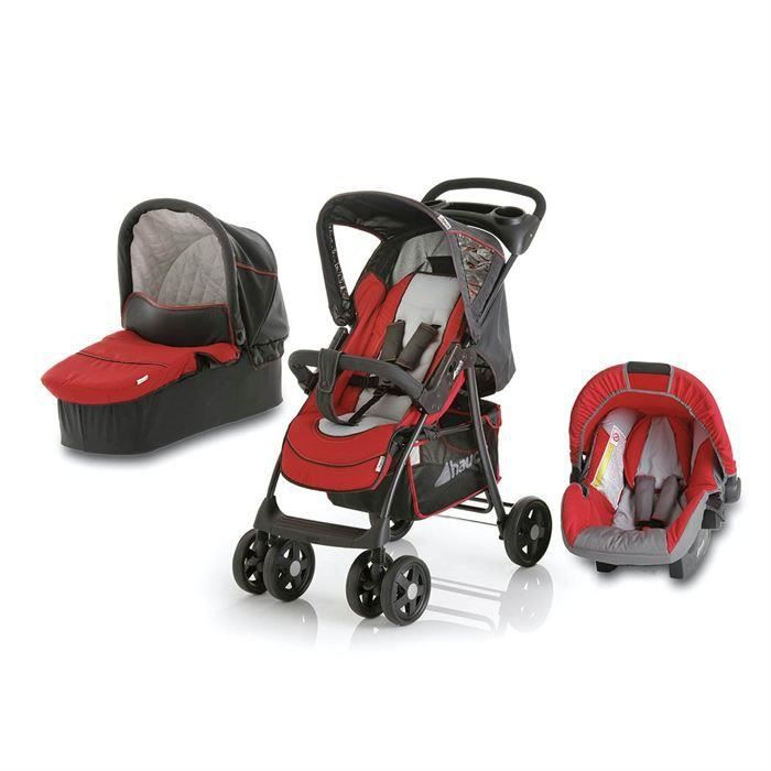 hauck poussette combin e shopper trio set rouge achat vente hauck shopper trio set rouge. Black Bedroom Furniture Sets. Home Design Ideas
